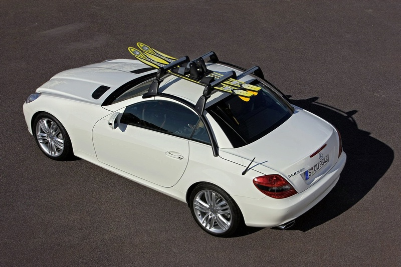 2008 mercedes slk accessory lineup announced it s your for Mercedes benz ski rack
