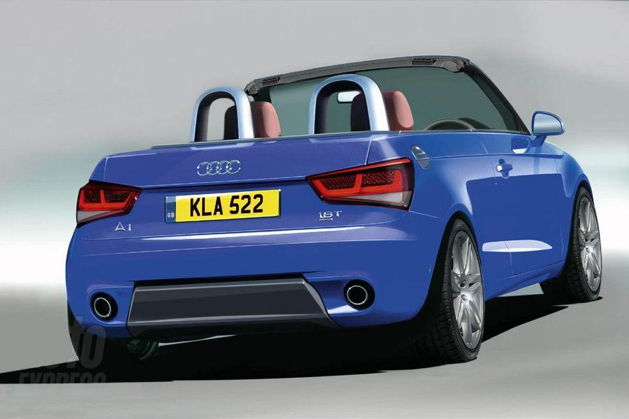 new audi a1 cabrio will debut on 2009 frankfurt motor show. Black Bedroom Furniture Sets. Home Design Ideas