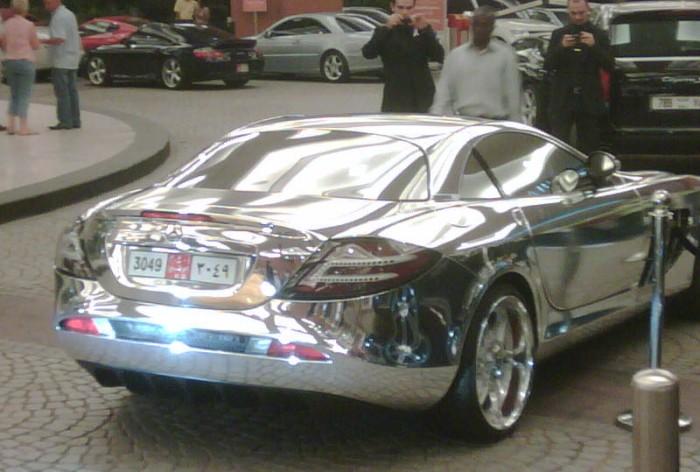Chrome Colored Mercedes Benz