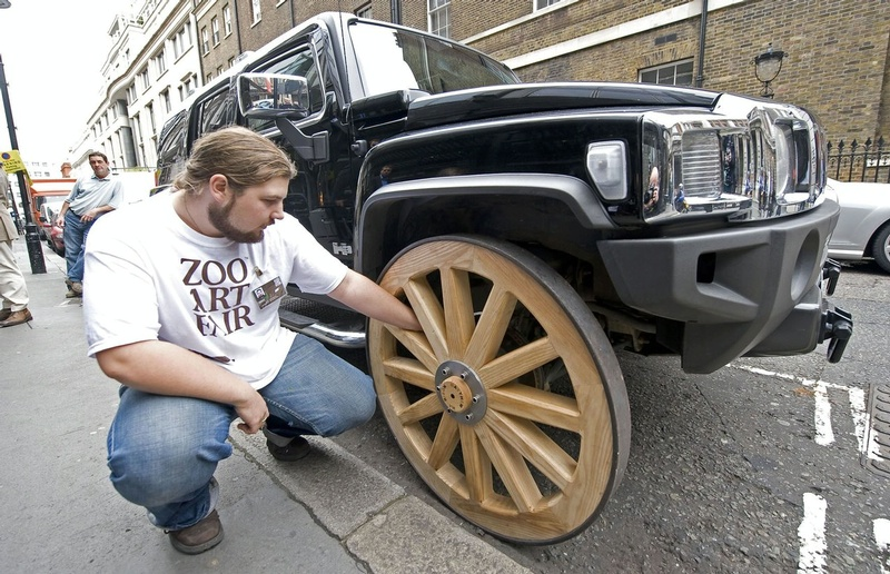 Hummer H3 With Wagon Wheels Img 3 It S Your Auto World New Cars