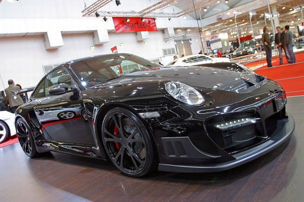 2008 Techart Porsche 911 Turbo Gtstreet Cabrio. those shiny new turbos.
