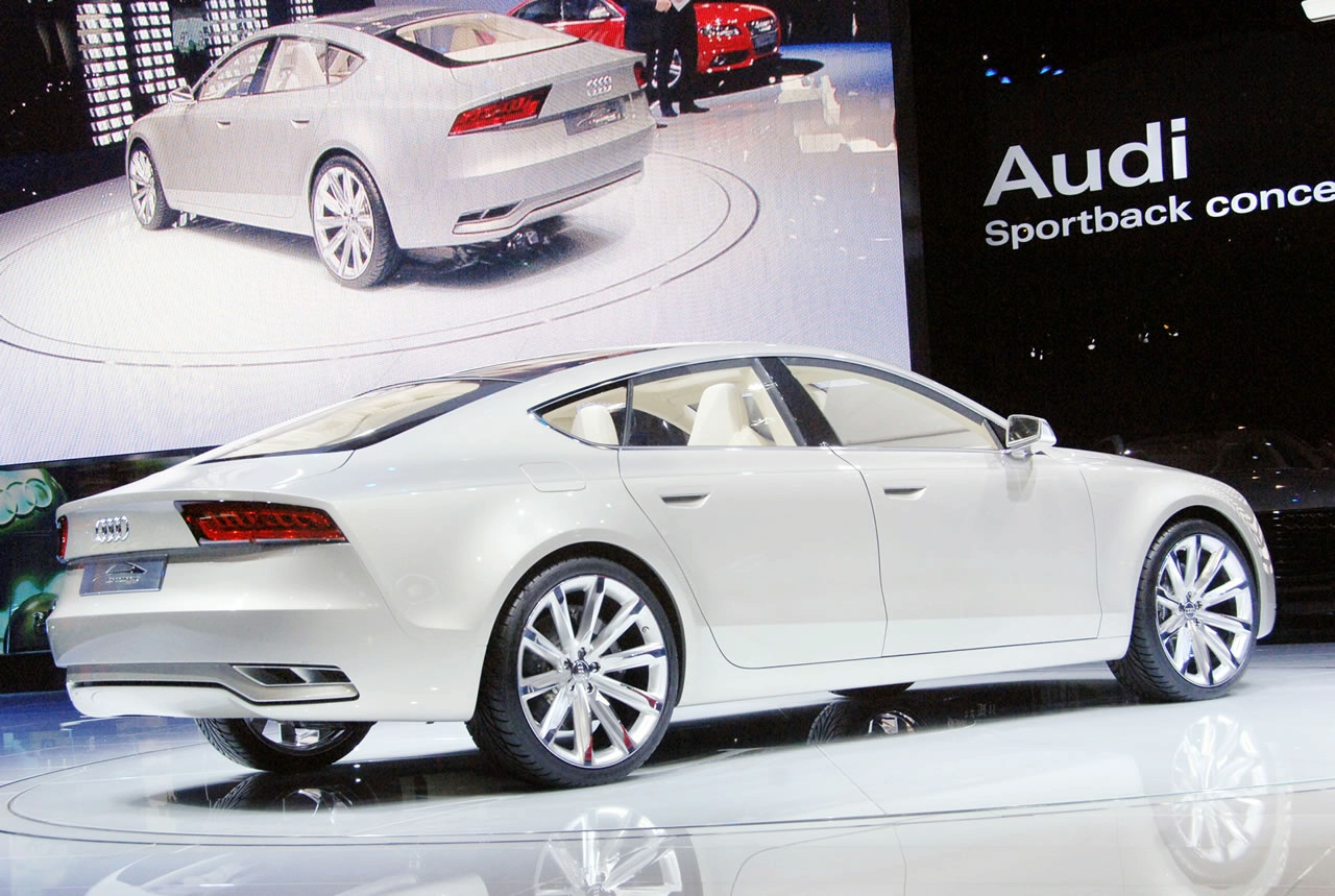 audi a7 sportback concept live at 2009 detroit auto show. Black Bedroom Furniture Sets. Home Design Ideas