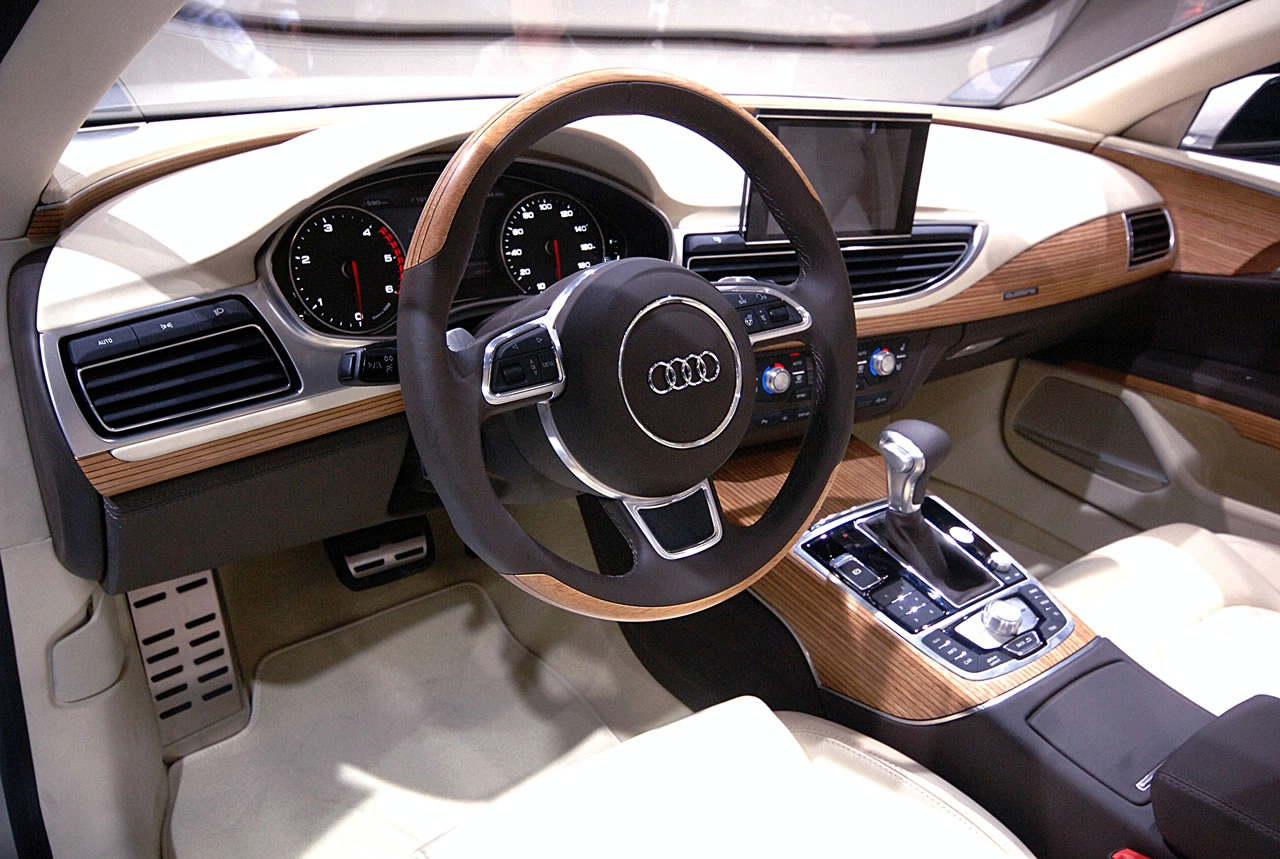 audi a7 sportback concept live at 2009 detroit auto show interior img 7 it s your auto world. Black Bedroom Furniture Sets. Home Design Ideas