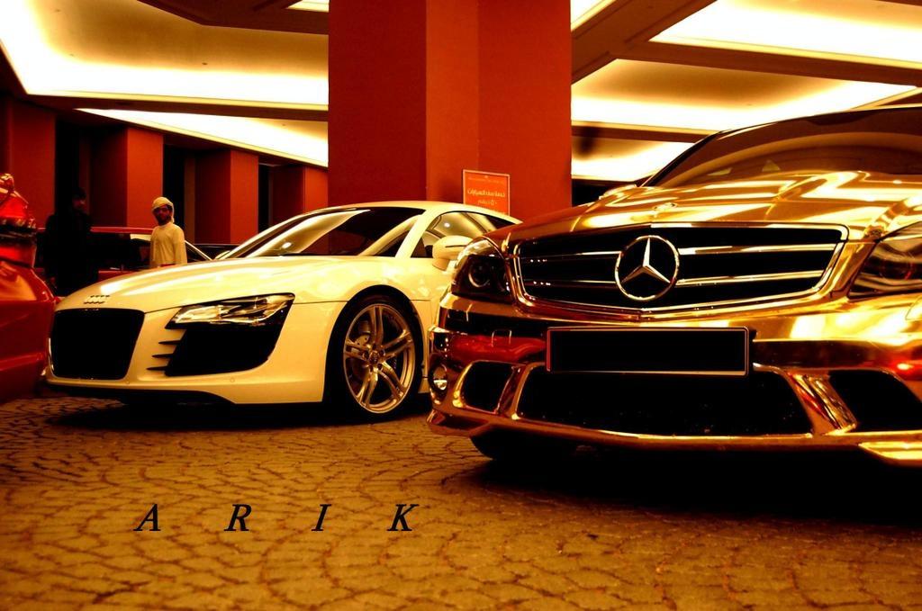Goldish Chrome Mercedes C63 Amg Spotted In Dubai Uae It