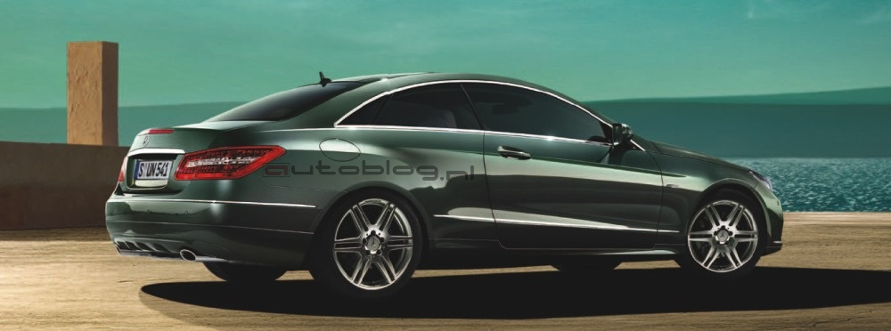 new 2010 mercedes-benz e-class coupe leaked: first official photos