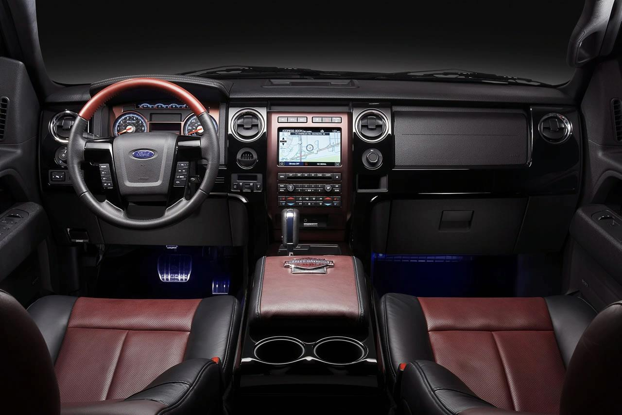 Awesome Ford F 150 Harley Davidson Edition Revealed Ahead Of Chicago Auto Show »  Ford F150 Harley Davidson Edition 2010 Interior Img_7