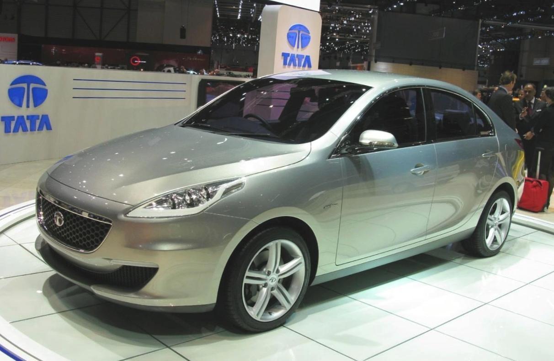Indian tata prima luxury sedan concept revealed at geneva for Tata motors future cars