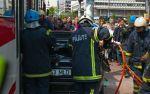 BMW 3-Series Touring crash between  Tram and Traffic Pole Tallin, Estonia img_5