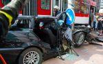 BMW 3-Series Touring crash between  Tram and Traffic Pole Tallin, Estonia img_6