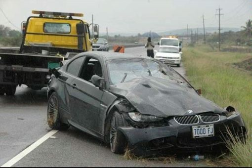 BMW M3 Crashed by Usain Bolt img_1