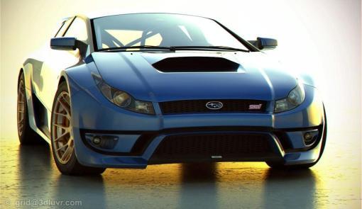 Subaru Impreza WRX STI artist 3D rendering img_1
