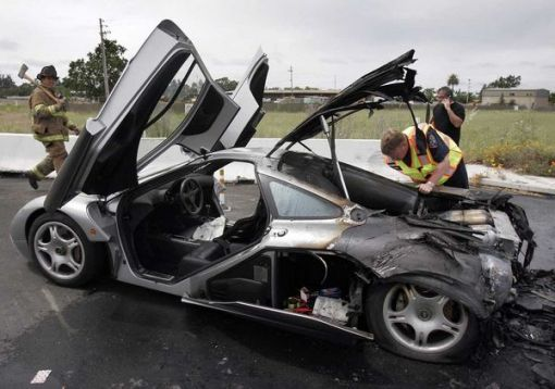McLaren F1 burn out in California img_2