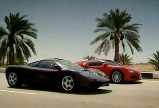 Bugatti Veyron against McLaren F1 Top Gear video img_1
