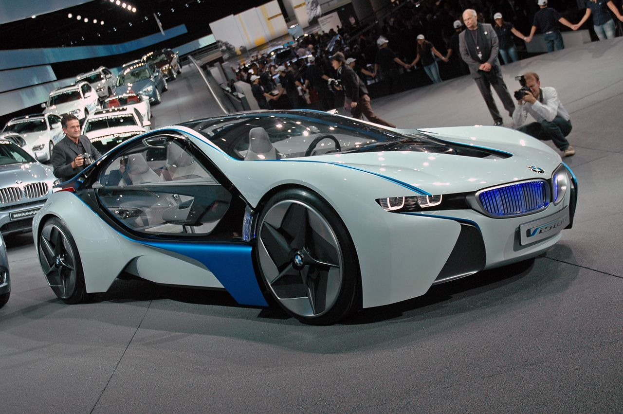 BMW Vision Efficient Dynamics Concept LIVE at 2009 Frankfurt Motor ...