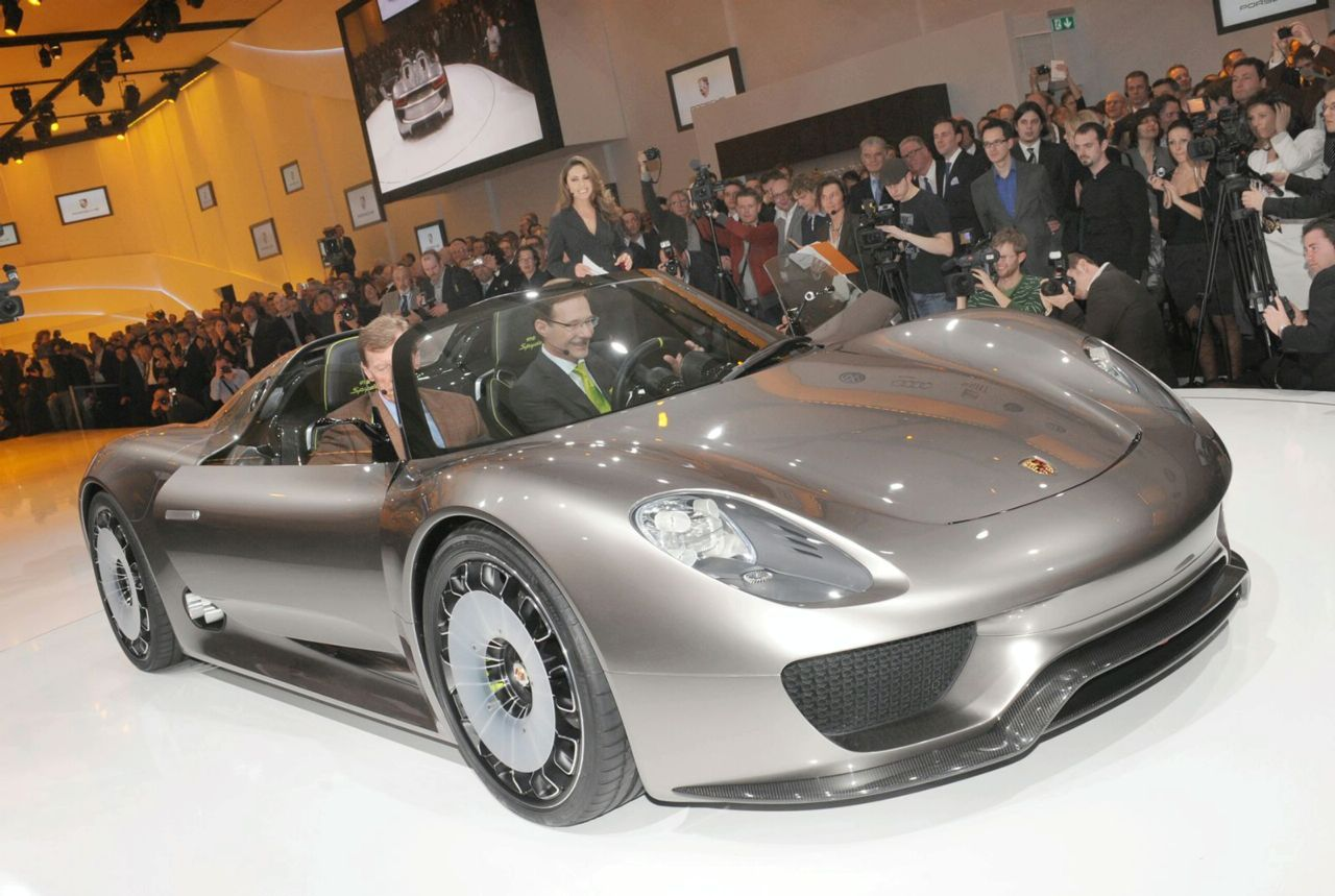 Porsche Spyder Debuted At The Geneva Motor Show on
